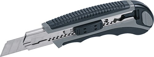 Kwb 014018 Cuttermes met afbreekmessen 18 mm (6 messen, autolock-functie, roestvrij stalen lemmetgeleiding)