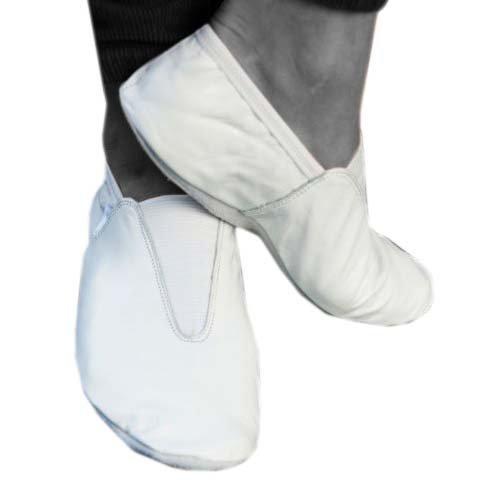 Leder Gymnastikball Training Dance Schuhe (weiß)