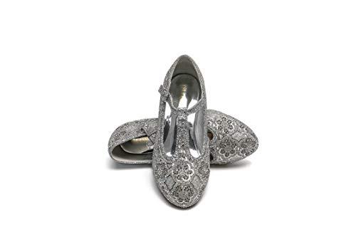 ELSA & ANNA® Gute Qualität Mädchen Schuhe Prinzessin Schnee Königin Gelee Partei Schuhe Sandalen SIL21 (33 EU)