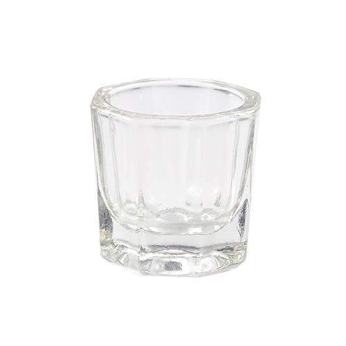Cetornie 1 Pieces Acrylic Nail Art Glass Crystal Cup Nail Art Glass Cup Manicure Glass Cups for Nail Art Tools