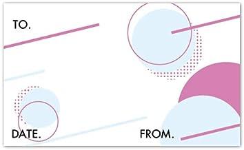 サンクスカード【0124:幾何学2】(名刺サイズ)1セット100枚
