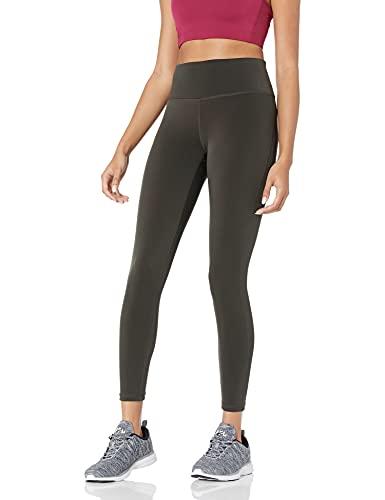 Amazon Essentials Women's Performance Mid-Rise 7/8 Length Active Legging, Dark Olive, Large