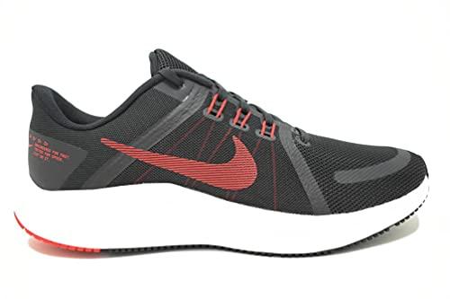 Nike Quest 4, Zapatillas para Correr Hombre, Black University Red White Dk Smoke Grey, 42 EU