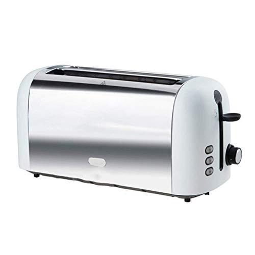 Ampliación de acero inoxidable Pan eléctrico automático Tostadora Mini desayuno Hogar para hornear Máquina de pan Herramienta de cocina Tostadora BJY969