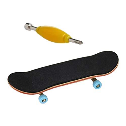 sharprepublic 9,6 cm Finger Skateboard con Superficie Antideslizante de la PU, Mini...