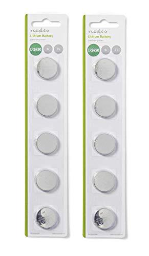 CR2450 Lithium-Batterien, 3 V, langlebig, für Spielzeug, Taschenrechner, Uhren, LED-Kerzen, 10 Stück