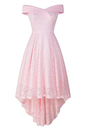 MisShow Kleid unregelmäßig Damen Festivalkleid Beauty Ballkleid Abendkleid Partykleid aus Spitzen XL