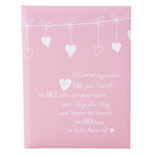 Goldbuch Babytagebuch, Poetry Pink, 21 x 28 cm, 44 illustrierte Seiten, Leinenstruktur, Rosa, 11132