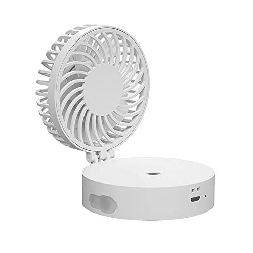PULLEY Mini ventilador de aire portátil USB 2 en 1 Mini USB para coche (color: blanco)