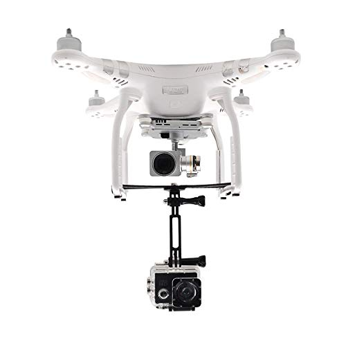 HUANRUOBAIHUO-HAT for DJI Phantom 3 Halter for Gopro Held Sport Action Kamera / 360 Grad Panoramakamerahalterung Fahrwerk Bracket Quadrocopter Zubehör (Color : Black)