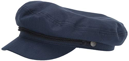 BRIXTON Fiddler Greek Fisherman Hat Gorro Newsie, Bleu Marine/Bleu Marine foncé, XS...