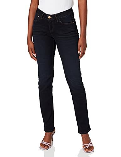 Cross Jeans Damen Straight Leg Jeanshose Rose, Gr. W34/L32 (Herstellergröße: 34), Blau (blue black used 026)
