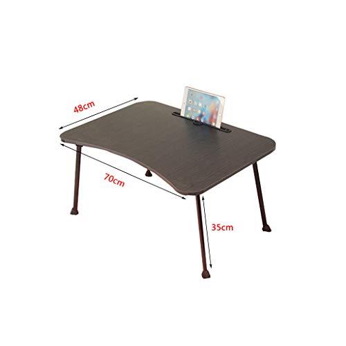 Büromöbel-LiuJF Grote klaptafel in slaapzaal, laptop vierkante tafel kinderkamer bureau zwart en roze kleine tafel / 70 x 48 x 35 cm verdikte plaat 70 * 48 * 35cm zwart