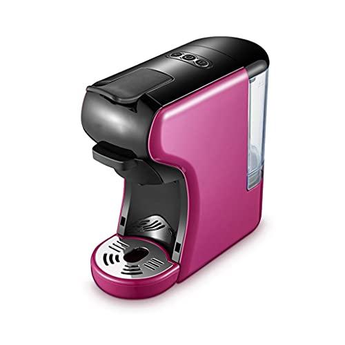 Ekspres do kawy, 3 w 1 ekspres do kawy, wyjmowany przezroczysty zbiornik wodny, pojedynczy serwer ekspresowy do kawy, szybkie browarki techniczne, hotele, pokoje, biura, kuchnie itp (Color : Purple)