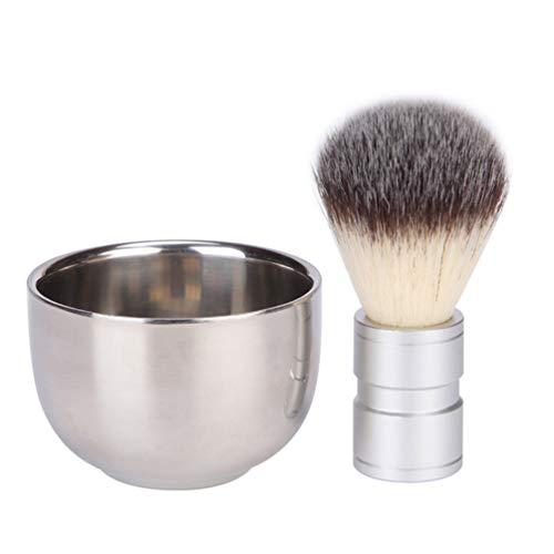 Beaupretty 2Pcs Brosse de Rasage Et Bol de Savon Hommes Brosse à Barbe Ensemble pour Hommes Moustache Soin Des Cheveux Outil de Nettoyage