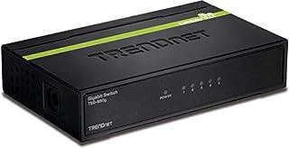 TRENDnet 5-Port Unmanaged Gigabit GREENnet Desktop Metal Switch, Ethernet-Network Switch, 5 x Gigabit Ports, Fanless, 10 Gbps Switching Fabric, Lifetime Protection, Black, TEG-S50g (B001QUA6R0) | Amazon price tracker / tracking, Amazon price history charts, Amazon price watches, Amazon price drop alerts