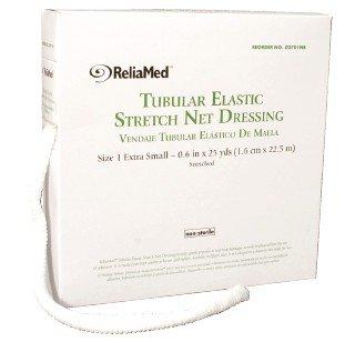ZG702NB - ReliaMed Tubular Elastic Stretch Net Dressing, Size 2 Small 4-5 x 25 yds. (Hand, Arm, Leg and Foot)