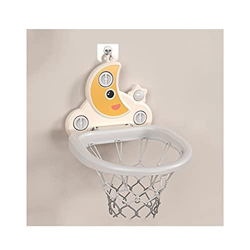 Tablero de Baloncesto Aro de Baloncesto con Forma de Luna de Dibujos Animados para niños, Que Puede Levantar Juguetes de Baloncesto Infantil Interior y un Marco de Tiro Mini sin perforarse
