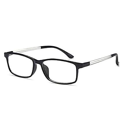 VVDQELLA Gafas de lectura 1.0 Lentes de computadora que bloquean la luz azul Vintage TR90 Unisex Hombres Mujeres para la lucha contra la fatiga contra los ojos, clásico en blanco y negro
