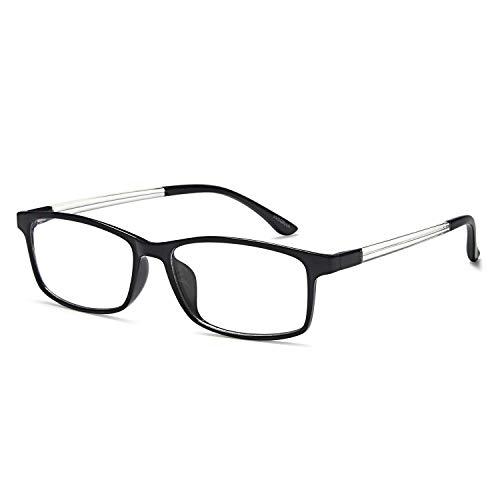 VVDQELLA Lesebrille 1,5 Blau Licht blockierende Computer Brille Vintage TR90 Unisex Männer Frauen für UV-Anti-Eye Fatigue