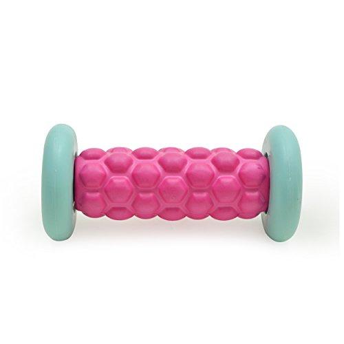 Zen Power Fuß-Roller, kleine Faszien-Rolle für Reflexzonen-Massage 16x7,5 cm in pink/mint