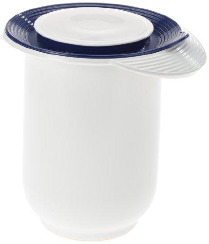 Emsa 2152121200 Quirltopf mit Deckel, Spritzschutzring, 1,2 Liter, Weiß, Superline