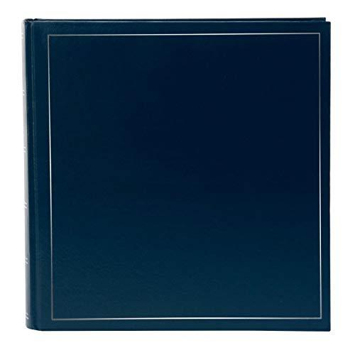 goldbuch 31372 Fotoalbum Classic, Bilderalbum mit 100 weiße Seiten und Pergamin, Foto Album zum Einkleben von ca. 600 Fotos, Fotobuch mit Kunstleder Einband, Erinnerungsalbum ca. 30 x 30 cm, Blau
