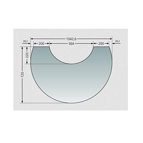 Oranier Glas-Vorlegeplatte zu Polar Neo 6 / Bakery & Vantage W+
