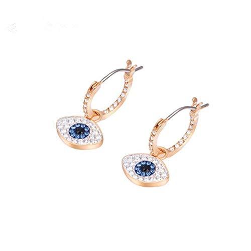 JIAJBG Damas Pendientes Elemento Pendientes Femenino Lucky Artificial Azul Diamante Magic Eye Diamond Pendientes Pendientes Azules Pendientes para Compras, Fiestas Decoraciones/Or