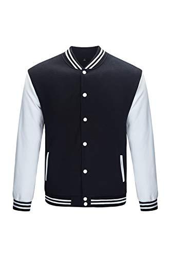 Trifuness Varsity Jacket Letterman Jacket Baseball Jacket With Long Sleeve Banded Collar Size XS
