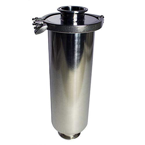 INTBUYING 304 Stainless Steel Sanitary Strainer 2'' Filter Straight-Type Strainer 100 Mesh