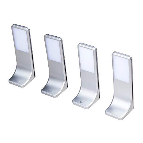 LED Unterbauleuchten Küchenleuchte Küchenleuchten Panel Unterbauleuchte Küche, Auswahl:4er SET, Lichtfarbe:warmweiß