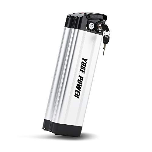 YOSE POWER E-Bike Akku 36V 15Ah (555Wh) XH370-10J mit USB, Pedelec Batterie für Aldi Prophete MiFa Trio Samsung Zhenlong Phylion