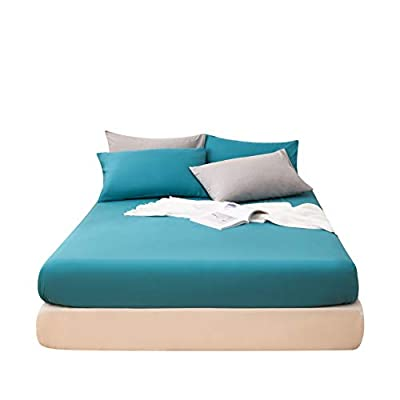 LS Fitted Bottom Sheet Only Premium Brushed Microfiber Ultra-Soft Fade Resistant Deep Pocket Full Teal
