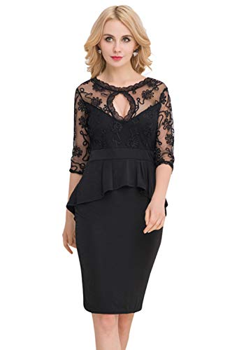 Women's Lace Hechten Ruffled Hip Rok Woon-Werkverkeer OL Slim Zakelijke Jurken Hip Cocktail Party Rok