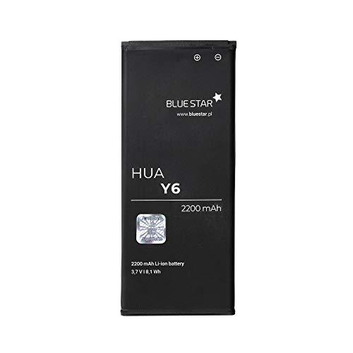 Blue Star Premium - Batería de Li-Ion litio 2200 mAh de Capacidad Carga Rapida 2.0 Compatible con el Huawei Y6