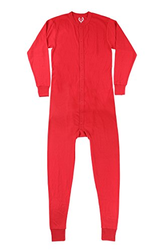 North 15 Mens Waffle Red Union Suit Underwear X Large