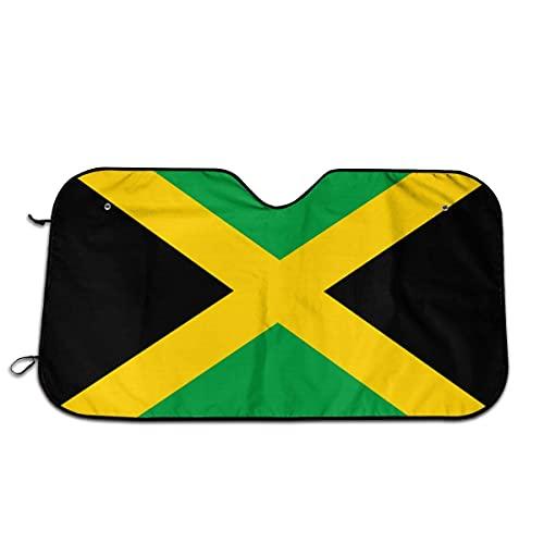 WXM Bandera de Jamaica - Parasol universal para coche, SUV, camión, bloquea la radiación UV, protege el interior fresco