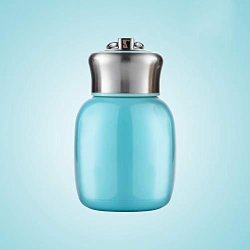 Thermoskanne Wasserflasche Vakuumisoliert Edelstahl auslaufsicher Mini hält warm und kalt für Zuhause Outdoor Reisen Blaugrün Einheitsgröße