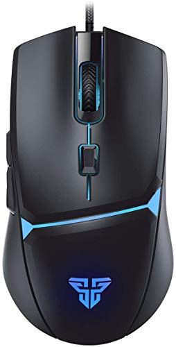 ゲーミングマウス LED光学式 usb有線 200~8000DPI調節 6ボタン数【応答速度アップ!】 RGBライティング マクロ対応 VX7 手に馴染みやすい 遅延なし 長持ち