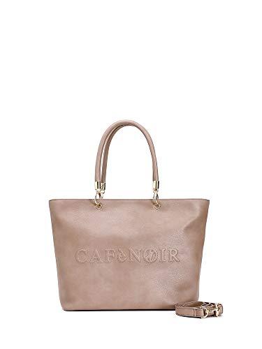 Shopping bag con logo in rilievo - unica - sabbia