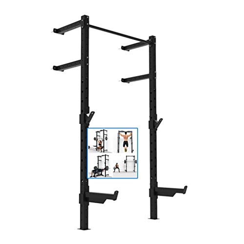 Musculación Press de banca Multifuncional Rejilla para Sentadillas de Pared Rejilla para Barra de Entrenamiento Personal en el hogar Barra Horizontal Pull-up (Color : Black, Size : 98 * 42 * 210CM)