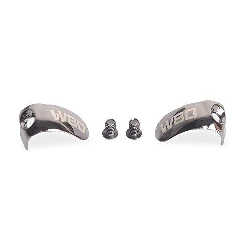 PLAYMM フェースプレート 金属 イヤホンを守る ドライバー ネジつき 修理 Westone w80,new w80,w60, new w40 に適合 シルバー