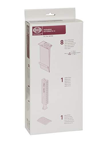 Sebo 5827ER Boîte HEPA avec 8 sacs ultra filtrants 4 couches, 1 filtre HEPA et 1 micro-filtre pour automatic X/XP