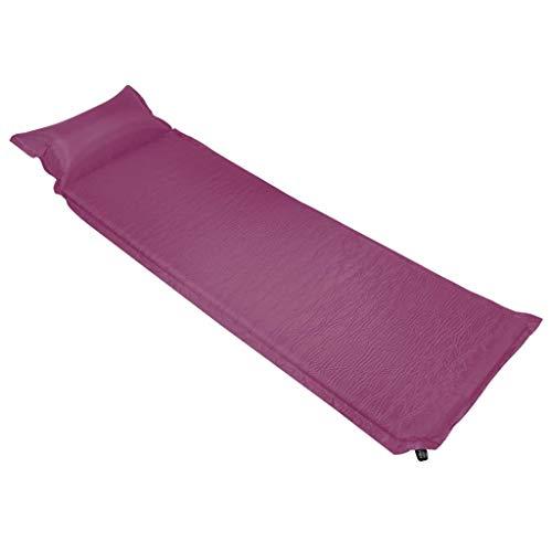 Extaum Aufblasbare Isomatte Selbstaufblasend Campingmatte Schlafmatte mit Kissen 66 x 200 cm Rosa für Picknicks, Camping