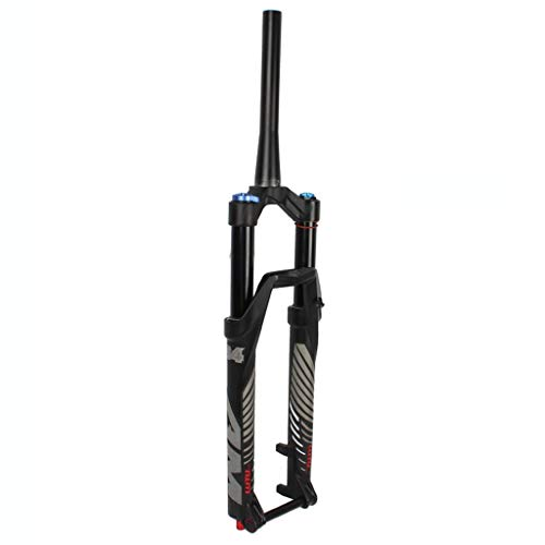 VHHV Mountain Bike Magnesium Alloy Suspension Fork 26/27.5/29 Inches, MTB Barrel Axle Front Fork, Stroke Inner Diameter 34 Mm, With Damping Adjustment (Color : Manual lock, Size : 26)