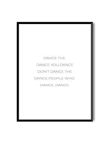MILUKA Láminas Decorativas con Marco colección Mensajes | Dance | Tamaño 20x30cm, 30x40cm, 50x70cm (30 x 40 cm con Marco Negro)
