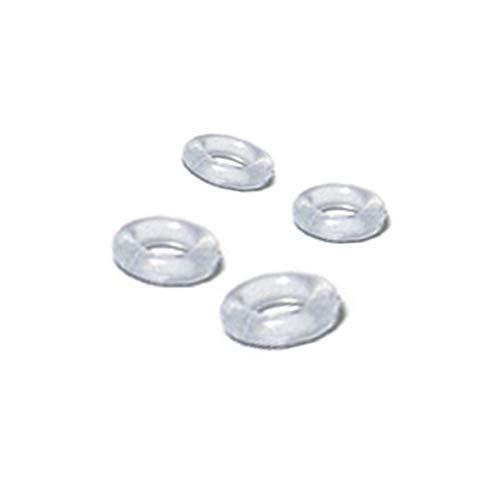 4個セット オーリング Oリング ゴムリング 透明ピアス ボディピアス パーツ 透ピ キャッチ ボディピ ボディピアス 固定 ゴム シリコン素材 半透明 クリアカラー/-/14G用