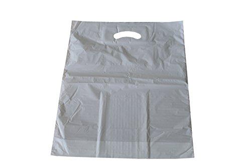 Tragetaschen MDPE mit Grifflochverstärkung Weiss 55 x 60 + 2 x 5 cm (1 Pack = 83 Stück)