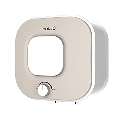 Cata | Termo eléctrico 15 L | Calentador de Agua | Modelo Termo CTRC - 15-M | Temperatura de 75 ºC | Clase de Eficiencia Energética A |